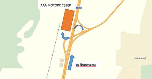 Москва-Воронеж - схема