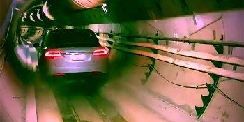 Tesla прокаталась по новому подземному тоннелю (ВИДЕО)