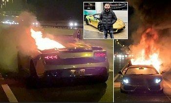 Lamborghini за 165 тысяч долларов сгорел через час после ТО