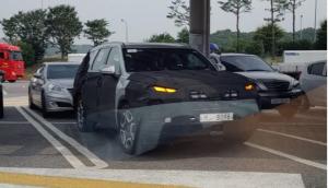 На шпионских фото показали модернизированный Hyundai Palisade